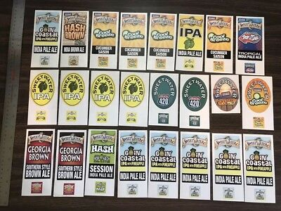 HUGE Sticker Lot! 24 Sweetwater Brewing Tap Handle Stickers 420 IPA Craft Beer!