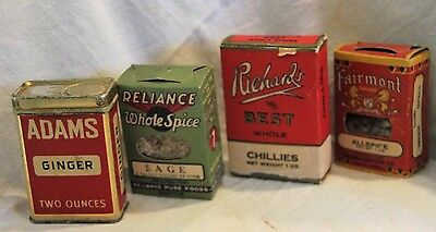Fairmont Richard's Reliance Adams Spice Tins