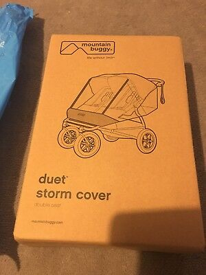 Mountain Buggy 2016 Duet Storm Cover Raincover Double Seat