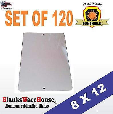 """120 Pieces PARKING SIGN  ALUMINUM  SUBLIMATION BLANKS 8"""" x 12"""" / WITH HOLES"""