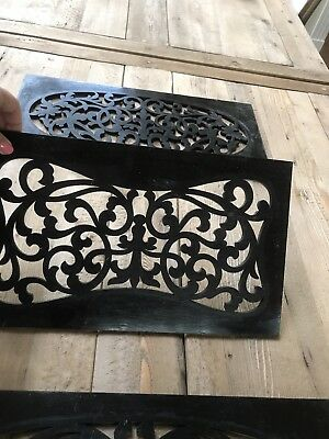 Antique Wood Decorative Panel Grate Register Vent Architecture Display, Set 3