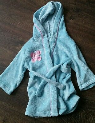 pre owned girls blue dressing gown size 6-12 months