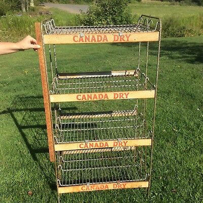 Vintage Wire Canada Dry Ginger Ale Rack, Four Shelf Shabby Display