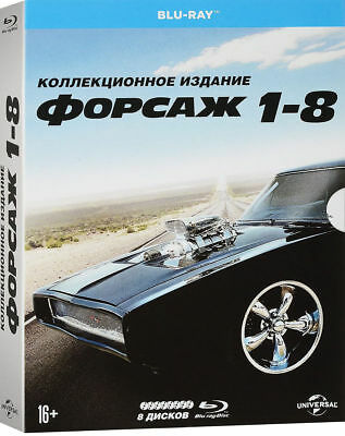 Fast and Furious: 8-Movie Collection (Blu-ray, 8-Disc Set) Eng,Russian,Czech
