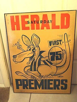 1975 North Melbourne Afl Premiership Weg Mounted Poster . Vgc.
