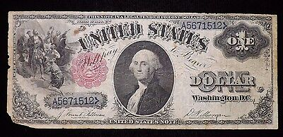 1880 $1 Dollar United States Paper Note Circulated