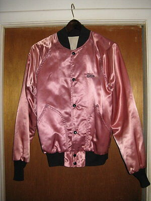 Wabx Detroit Circa 1978 Never Worn Air Staff Jacket Shocking Pink Satin & Black