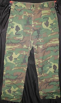 Vintage 1960's Green Dominate Erdl Camo Ripstop Trousers Civilian Hunting Pants