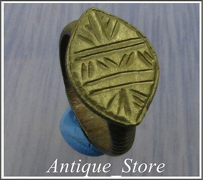 Ancient Bronze Legionary Roman Ring **VIA MILITARIS**