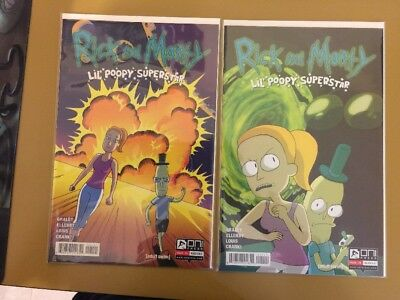 Rick and Morty Lil Poopy Superstar #1 Reg + Variant Levens Oni Comic 1st Print