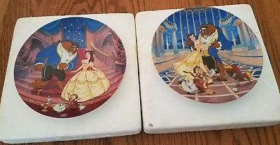 Lot of 2 Knowles Beauty and the Beast Disney Collectible Plates- Mint Condition
