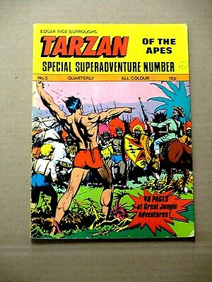 Tarzan Super Adventure # 5 Edgar Rice Burroughs Uk Comic Vf