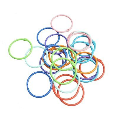 Bilipala Loose Leaf Binder Rings Book Ring Keychain, 1.5 Inch, 24 Count, Color