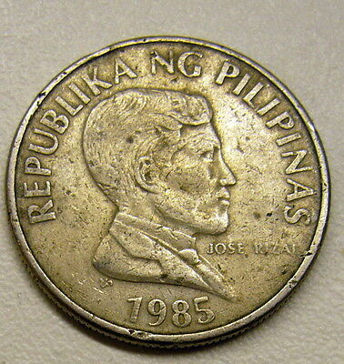 1985 PHILIPPINES 1 Piso Coin