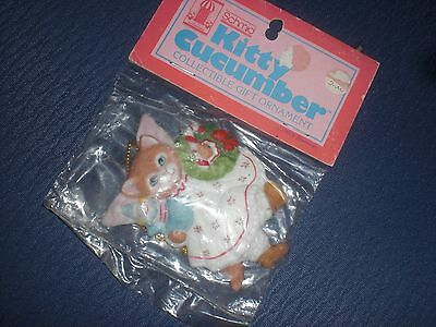 Schmid Kitty Cucumber Collectible Gift Ornament  from 1987 NEW!