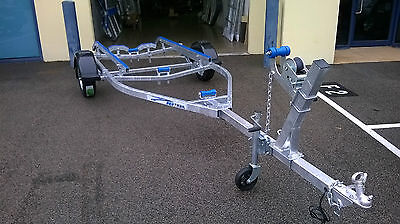 Sea-Trail boat trailer. 4.7 metres galvanised frame. 13 inch ford wheels