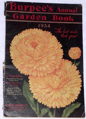 Vtg 1934 SCARCE ORIGINAL BURPEE SEED CATALOG IlludfFlowers & Vegetable