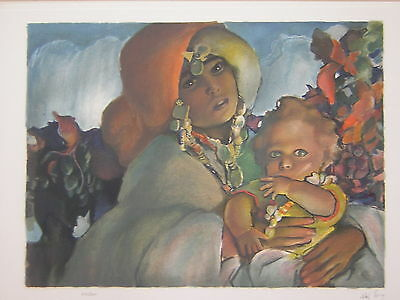 12 Lithograph By Abel Pann Signed &number Israel Israeli Jewish Rare