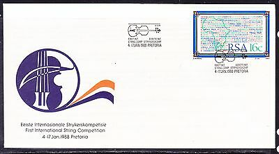 South Africa 1988 - String Competition Souvenir Cover - Unaddressed