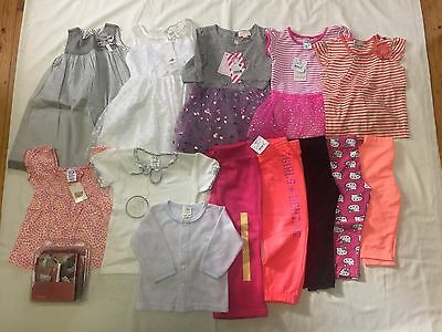 14 Items of girl's clothing. 18 months- 2 years, Dresses, tops, pants, shoes.