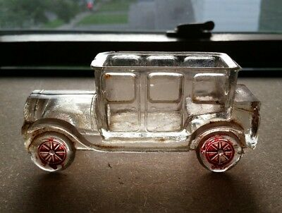 Antique Victor Glass Co Glass Car Automobile Candy Container