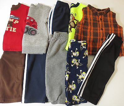 LOT Toddler Boys Size 12 Months Fall Winter Clothes Outfits