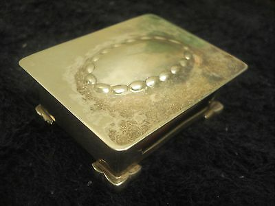 Unusual silver plate MATCHBOX COVER Holder LIDDED BOX Hinged Lid BOX INCLUDED