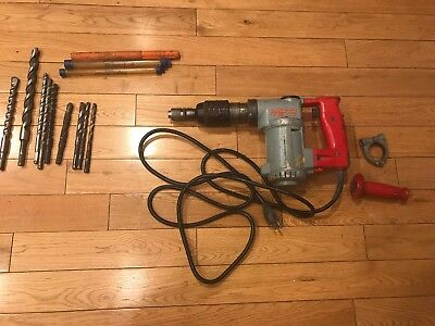 Good Working Hilti TE17 Corded Electric Rotary Hammer Drill w/Case & Bits