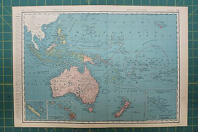 Oceania Vintage Original 1896 Rand McNally World Atlas Map Lot