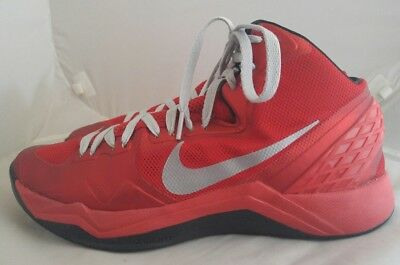 Mens Nike Zoom Hyperdisruptor Basketball Shoes Size: 10 Color: Red Gray