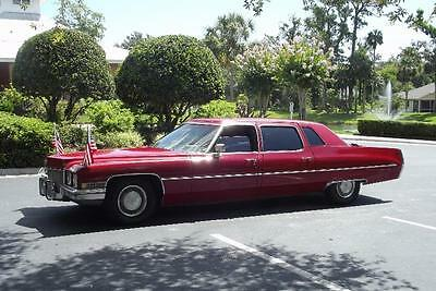 "1971 Cadillac Fleetwood Limo Barn Find 1971 Cadillac Fleetwood Limousine ""ANTIQUE LIMO"" Excellent Condition"