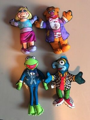 1998 Muppet Blockbuster Plush Kermit Miss Piggy Fozzie Gonzo Set Lot of 4 SEALED