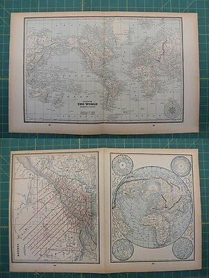 The World Quebec Vintage Original 1893 Columbian World Fair Atlas Map Lot
