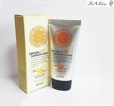 [Intensive ] UV Sunblock Cream SPF50 PA+++ 70ML(2.3oz) [3W CLINIC] Makeup Base