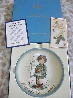 """1983  Mothers Day limited edition Plate, Berta Hummel, """"Spring Bouquet"""", COA"""