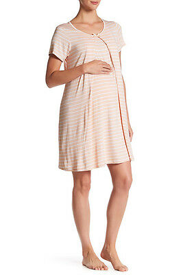 Lamaze Maternity Intimates Maternity/Nursing (S) Striped Night Gown