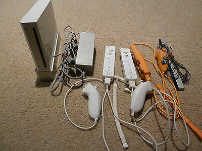 Nintendo Wii Console, 17 Games, 3 Controllers, Heaps Of Accessories, EC