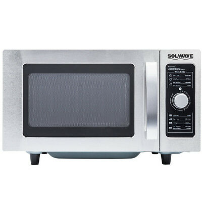 New Solwave Stainless Commercial Microwave Oven Restaurant Equipment Dial Contro