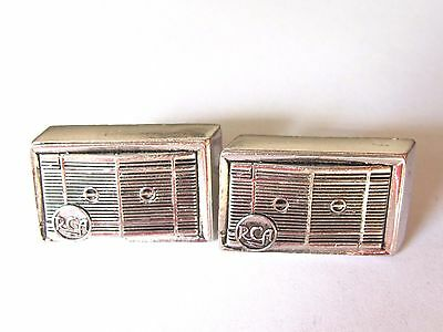 Vintage Advertising Rca Cuff Links Window Air Conditioner ,electronics , Anson