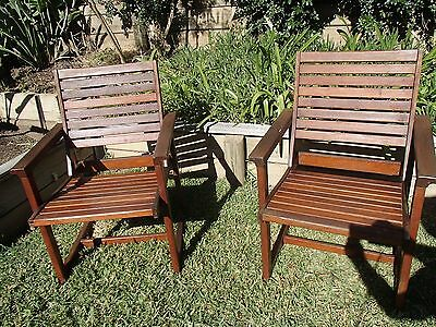 Two Wooden Garden Seats