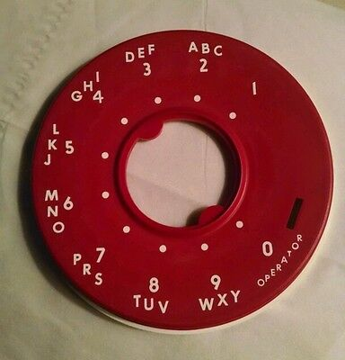 Bright Red Dial Number Plate  for 500 set -- New Old Stock