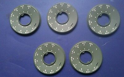 5 Lot -- Dial Number Plates -- For 500 Set -- Moss Green -- New Old Stock