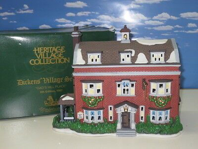 Retired ~ Dept. 56 Dickens' Christmas Village ~ Gad's Hill Place