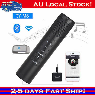 QTY Portable CY-M6 Microphone Wireless Bluetooth 3.0 Music Player Speaker Black