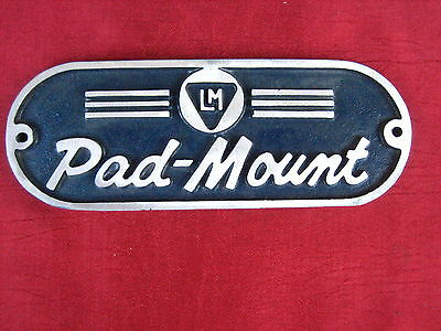 RARE  6.25 Inch Vintage Cast Aluminun LINE MATERIALS PADMOUNT  General Electric