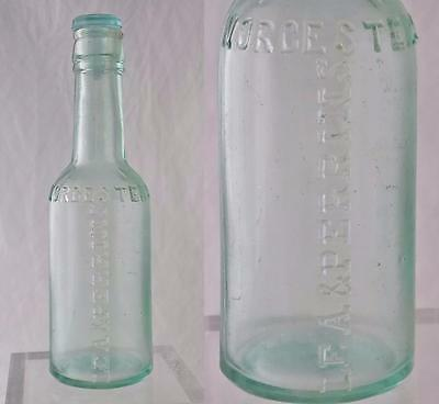 Antique Lea Perrins Worcestershire Sauce Bottle Circa 1900 Green Glass Stopper