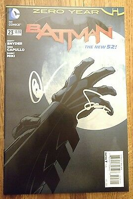 Batman #23, NM, SIGNED by Scott Snyder and Greg Capullo, Zero Year,DC,New 52