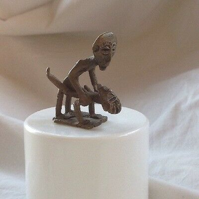 Vintage African Gold Weight Brass Cast Wax Erotic Ashanti Ghana Preowned