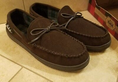 Woolrich men's Potter County Brown wool house shoes slippers Size 12