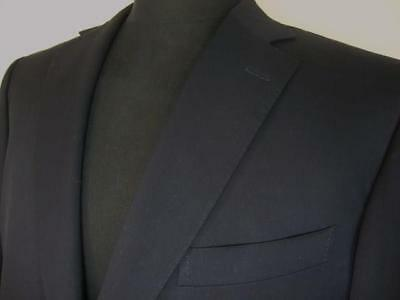 ERMENEGILDO ZEGNA MULTISEASON Dark Navy Blue 2Btn Wool Blazer 46R